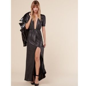 NWT Reformation NYE holiday metallic formal dress